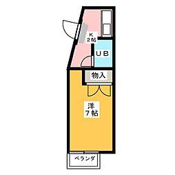フラット18[3階]の間取り