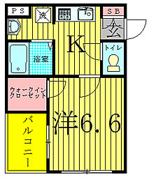 S−FORT柏[5階]の間取り