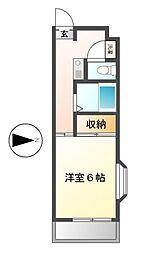大島マンション廿軒家[2階]の間取り