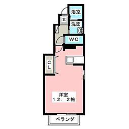 パルスクエアII[1階]の間取り