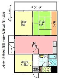 石垣東成ビル[0901号室]の間取り