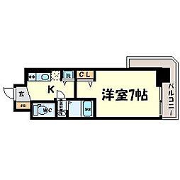 サムティ東難波ECLAT[15階]の間取り