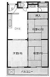 不二ビル[4階]の間取り