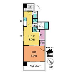 麦島第二ビル[303号室]の間取り