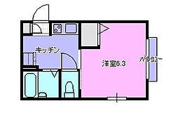 第1山田ハイツ105[105号室]の間取り