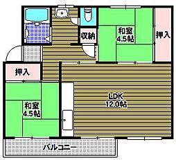 公団狭山住宅5号棟[5階]の間取り
