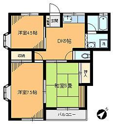 栄ハウス[B-101号室]の間取り