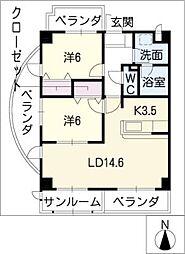 FORM GP NORTH[5階]の間取り