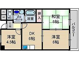 リバーサイド上野[2階]の間取り