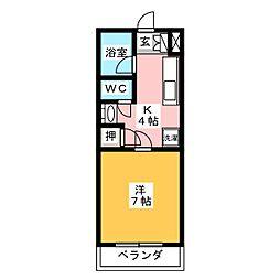 AYUMIハイツC[1階]の間取り