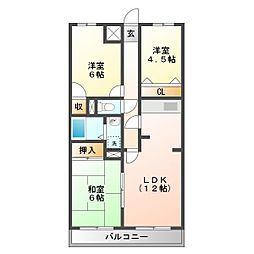 ライトマンション細田[3階]の間取り