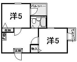 セレーノ門戸[2階]の間取り