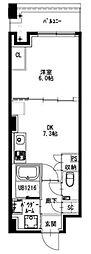 都営新宿線 曙橋駅 徒歩5分の賃貸マンション 5階1DKの間取り