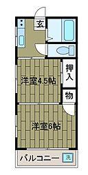 土屋荘[1階]の間取り