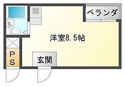 大阪府大阪市平野区平野市町1丁目の賃貸アパートの間取り