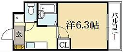 ハイポジション銀閣寺[2階]の間取り