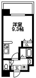 (仮称)都島本通4丁目新築マンション 4階ワンルームの間取り