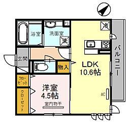 (仮)D-room北区百舌鳥本町 2階1LDKの間取り