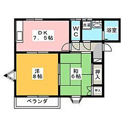 シノハラコーポ A棟[2階]の間取り