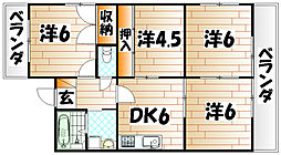 レイズ友田A[5階]の間取り