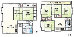 [一戸建] 滋賀県大津市仰木の里東5丁目 の賃貸【/】の間取り