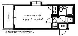 DETOM-1西陣II[401号室号室]の間取り