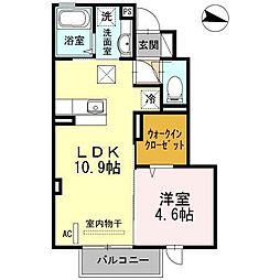 サンドハウス B棟[106号室]の間取り