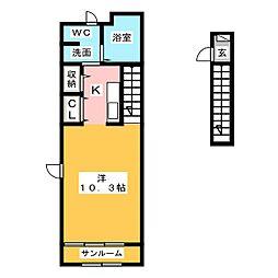 アジュールI[2階]の間取り