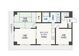 グッドライフ21[6階]の間取り