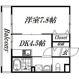 静岡県浜松市西区志都呂町の賃貸マンションの間取り