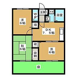 パルカーサ南京都[1階]の間取り