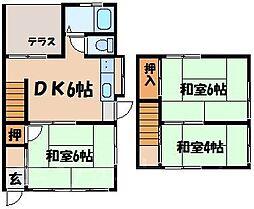 [テラスハウス] 広島県広島市安芸区矢野西7丁目 の賃貸【/】の間取り