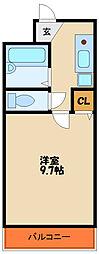 兵庫県加古川市平岡町新在家2丁目の賃貸マンションの間取り