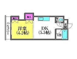 北海道札幌市豊平区平岸五条12丁目の賃貸マンションの間取り