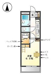 OMレジデンス上飯田[2階]の間取り