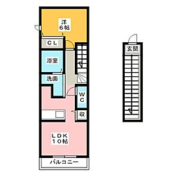 ペルラ[2階]の間取り