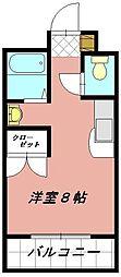 プレアール井堀[203号室]の間取り