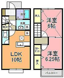 桜花[103号室]の間取り