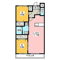 Casa nuova 南平[3階]の間取り