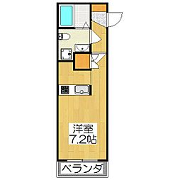 THE GARNET SUITE RESIDENCE深草[203号室]の間取り