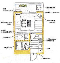 ユトリロ草間[2-F号室]の間取り