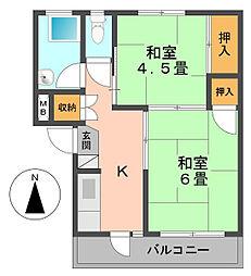 江戸川テージーハイツ[402号室]の間取り