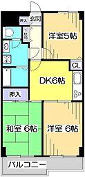 ロイヤルキャステージ恋ヶ窪[6階]の間取り