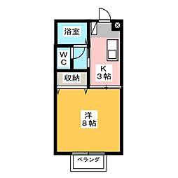 高光ハイツII[2階]の間取り