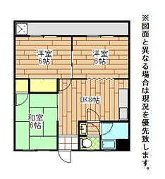 三木コーポI[3階]の間取り