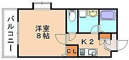 ピュア平尾参番館[4階]の間取り