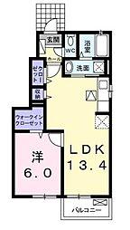 高松琴平電気鉄道琴平線 綾川駅 徒歩9分の賃貸アパート 1階1LDKの間取り