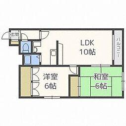 プロスペール新札幌[1階]の間取り