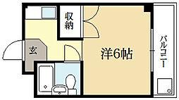 ロイヤルコーポタカノ[4階]の間取り