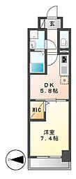 グランパークタワー[2階]の間取り